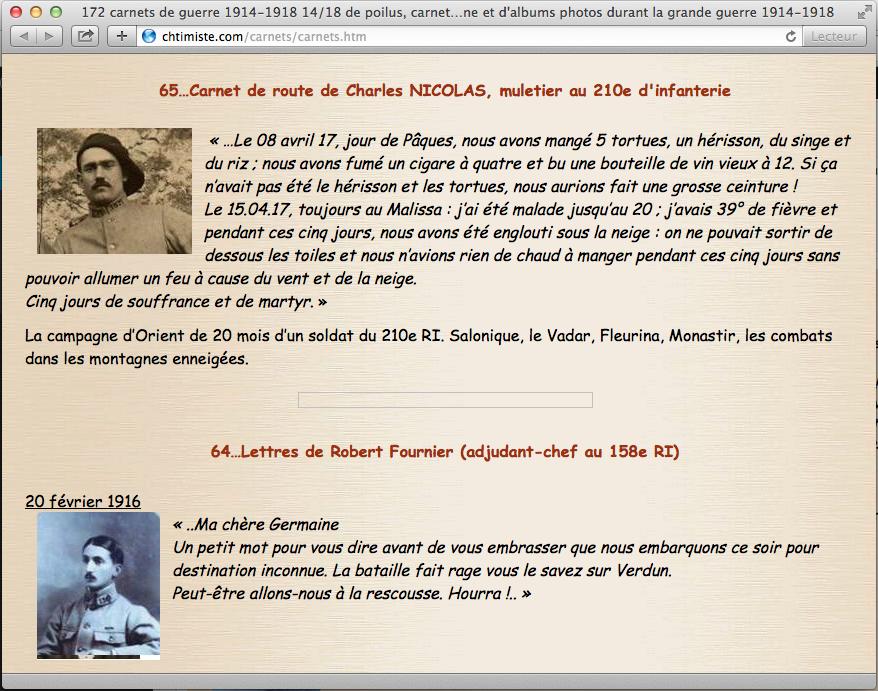 172 carnets de guerre, carnets de campagne, mémoires,  Carnets de route, albums photos, lettres et témoignages de Poilus.